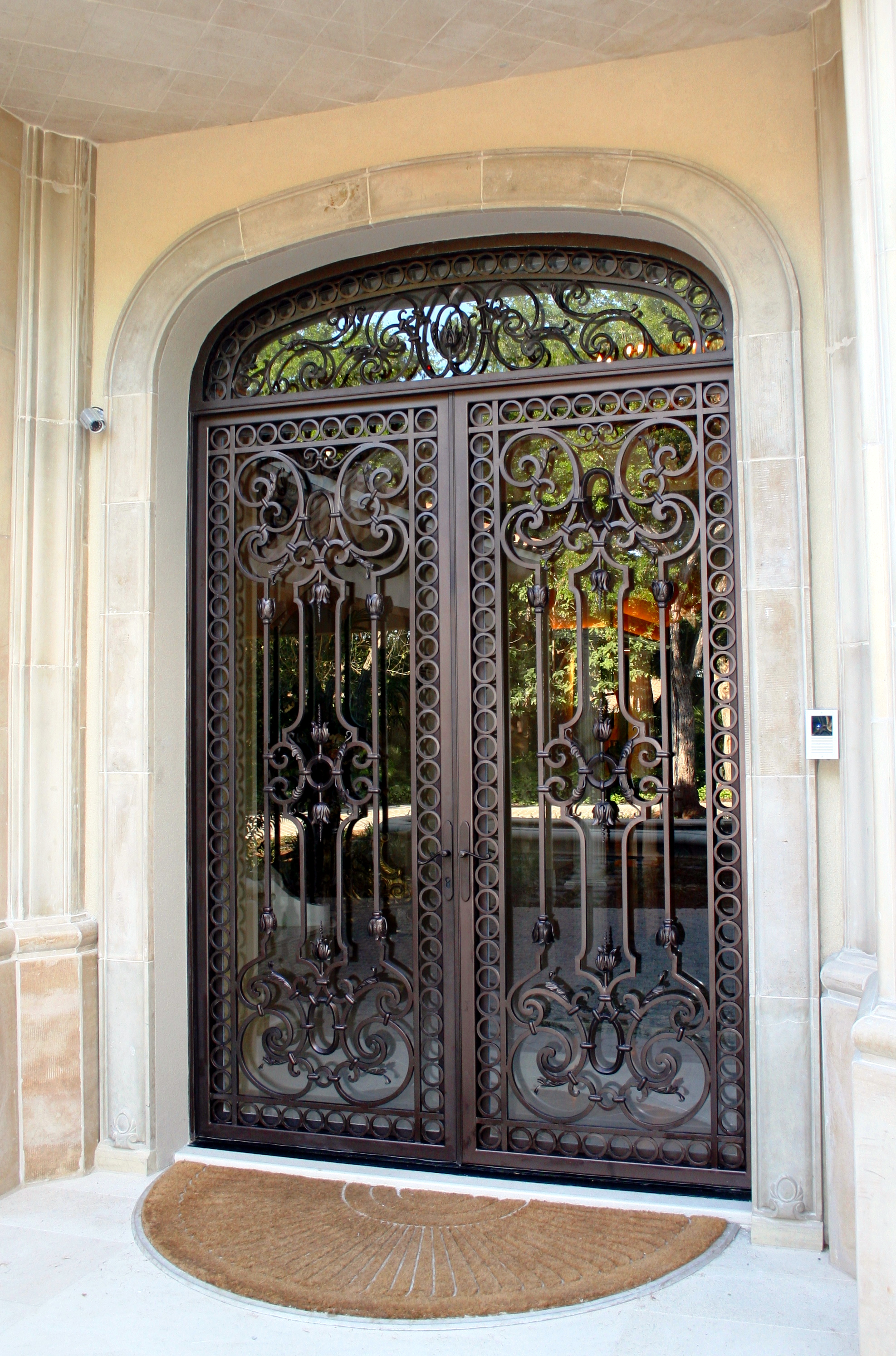 Sculpted Grand Entry Doors Forged Oaks